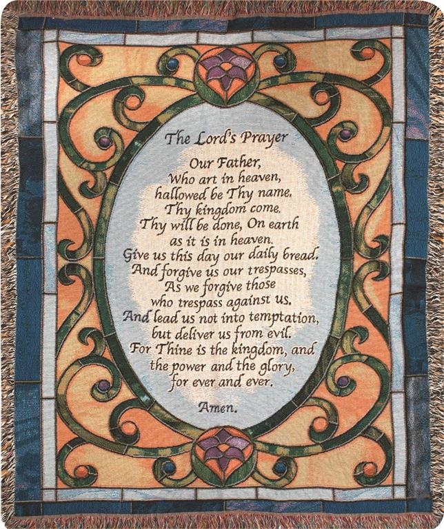 The Lord's Prayer Throw