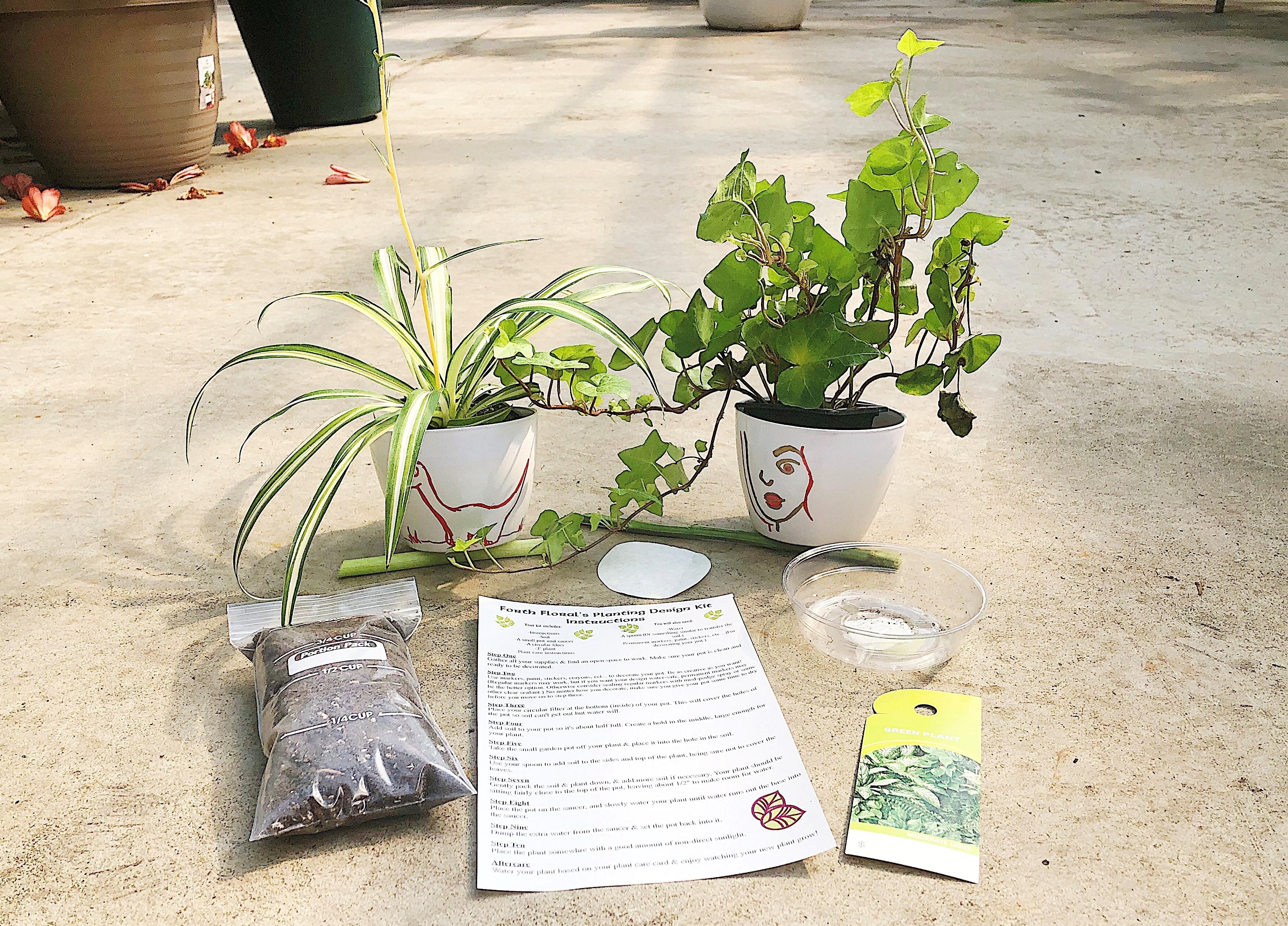 Kid-Friendly Planting Design Kit - Green Plant